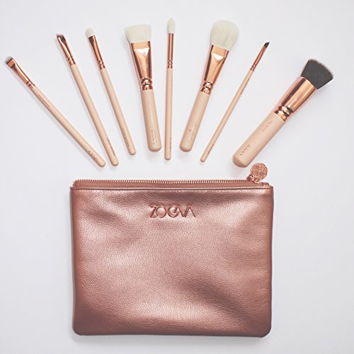 """- ZOEVA ROSE GOLDEN LUXURY SET VOL. 2 """"Feminine Chic."""" : 8 essential makeup brushes for face and eyes (100% authentic) GET FREE EXCLUSIVE GIFT"""
