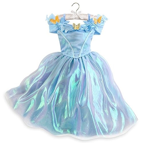 Disney Cinderella Live Action Costume (Disney Store Authentic Girls Cinderella Live Action Blue Butterfly Costume Dress (5/6))