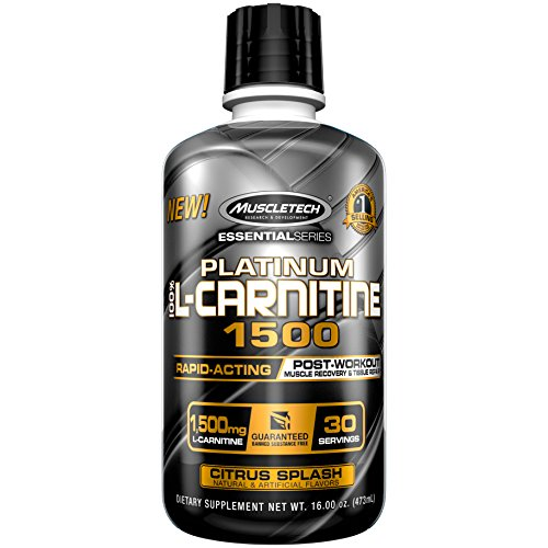 MuscleTech Essential Series 100%, L-carnitine Citrus Splash, 16 Ounce