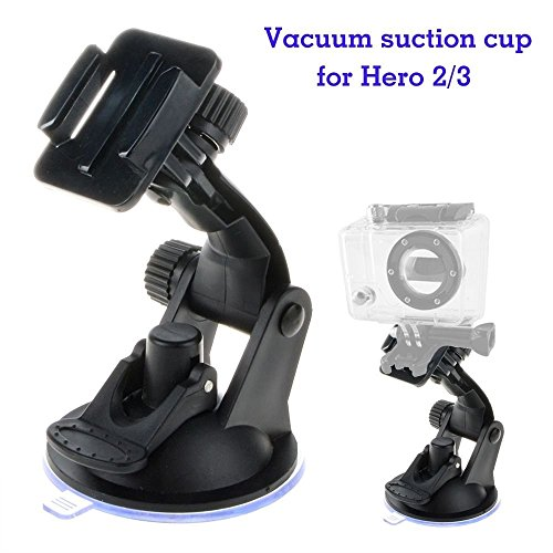 FYL 7CM Car Windshield Suction Cup Mount Stand Holder For GoPro HD Hero 1 2 3 Camera