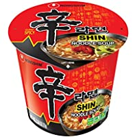 6-Pack NongShim Gourmet Spicy Shin Cup Noodle Soup, 2.64 Ounce