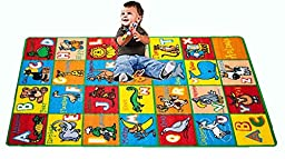 Kids Rug ABC Animals Area Rug 5\' x 7\' Children Area Rug for Playroom & Nursery - Non Skid Gel Backing (59\
