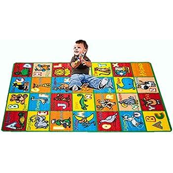 Kids Rug ABC Animals Area Rug 5u0027 x 7u0027 Children Area Rug for Playroom  u0026 Nursery. area rug for playroom   Roselawnlutheran