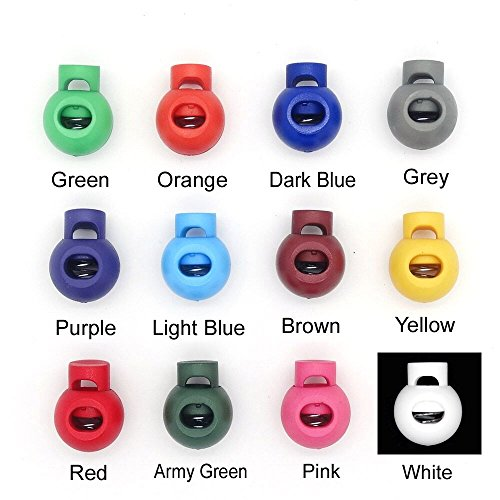 12pcs/pack Colorful Ball Cord Lock End Stops Round Toggle Stopper for Sport Cloth Bag Accessories