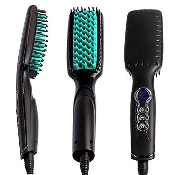 Tragbare Elektrische Haar Bürste Zum Glätten Straightener Bürste