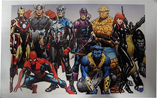 Stan Lee Signed Autographed 23x36 Canvas Print Marvel Spider-Man JSA V67859 from Cardboard Legends Online
