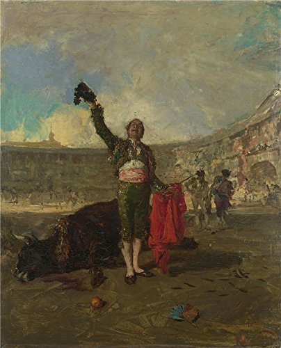 Child Bullfighter Costume (The Perfect Effect Canvas Of Oil Painting 'Mariano Fortuny The Bull Fighter's Salute ' ,size: 24 X 30 Inch / 61 X 75 Cm ,this High Resolution Art Decorative Canvas Prints Is Fit For Kids Room Decor And Home Artwork And Gifts)