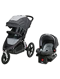 Graco Relay Click Connect Jogging Stroller Travel System, Glacier 2015 BOBEBE Online Baby Store From New York to Miami and Los Angeles