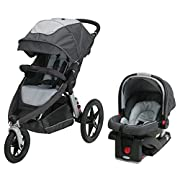 Graco Relay Click Connect Jogging Stroller Travel System Glacier