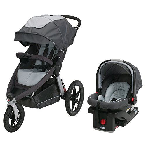 Graco Relay Click Connect Jogging Stroller Travel System, Glacier 2015