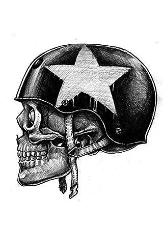 Tattoo para brazo Brazo tatuaje pegatinas Calavera Soldado con ...