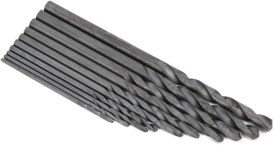 Black Twist Drill High Speed Steel Drill Bit Manual Drilling Tool for Diamond Puncher GLOGLOW 10Pcs Drilling Tool