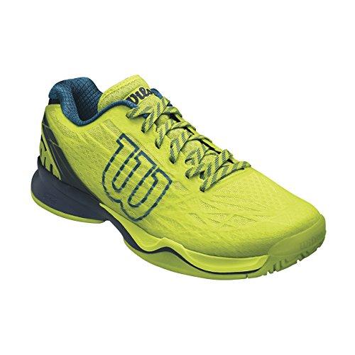 Wilson Wrs323470e070, Chaussures de Tennis Homme, Vert (Lime Punch / Navy Blazer / Blue Coral), 41 EU