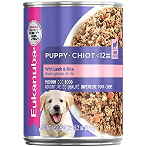 EUKANUBA Puppy With Lamb & Rice Canned Dog Food, 13.2 oz., Case of 12