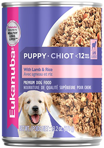 Eukanuba Wet Food 10154715 Puppy With Lamb & Rice Canned Dog Food (Case of 12), 13.2 oz (13.2 Ounce Puppy Food)