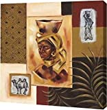 PrintArt GW-POD-55-WF2007-34-36x36 ''Out of Africa II'' by Wendy Fields Gallery Wrapped Giclee Canvas Art Print, 36'' x 36''