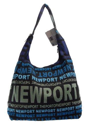 Robin Ruth NewPort Large City Bags Black/Blue/Rainbow