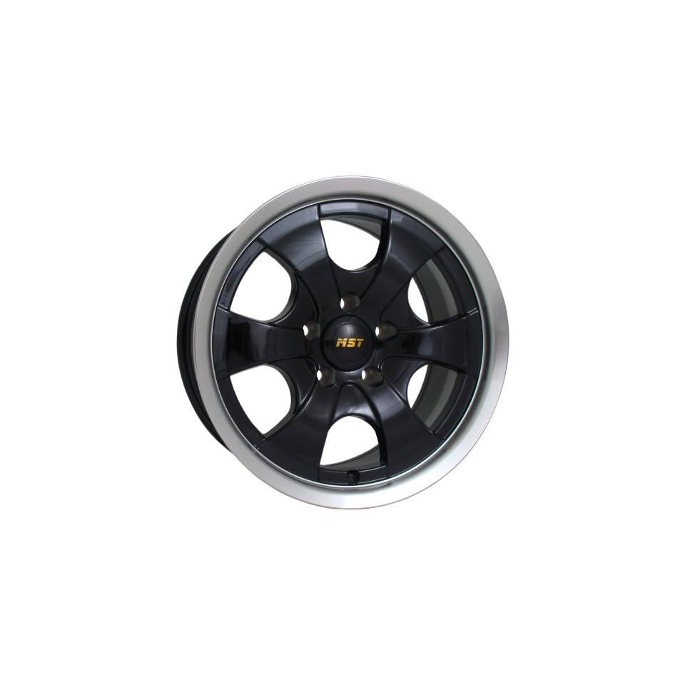 16x8 MST 810 (Gloss Black w/ Machined Lip) Wheels/Rims 8x165.1 (810 6882) Automotive