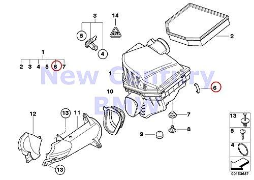 BMW Genuine Fuel Injection System Intake Muffler Spring Clip L=42MM 850Ci 735i 735iL 740i 740iL 525i 530i 535i 540i M5 3.6 740i 740iL 740iLP 750iL 750iLP 540i 540iP M5 M3 X5 3.0i X5 4.4i X5 4.6is X5 4