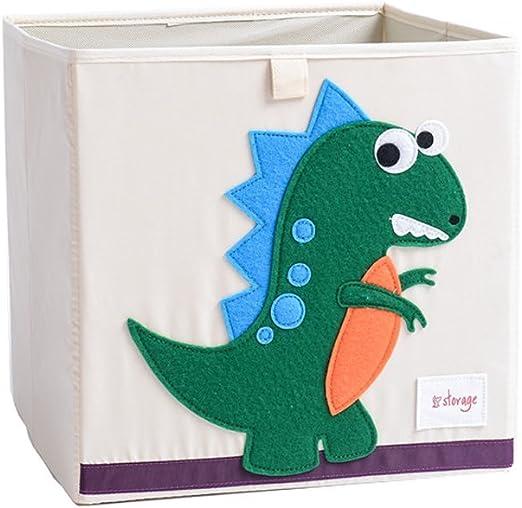 Juguete Caja Caricatura dinosaurios plegable almacenamiento Dados ...