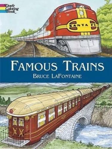 Famous Trains (Dover History Coloring - Railway Southern Trains Passenger