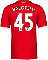 Balotelli #45 Liverpool Home Soccer Jersey 2015