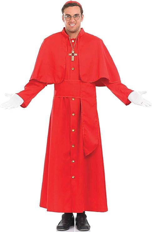Fancy Me Hombre 5Pc Religioso Rojo Católica Cardenal Cura Disfraz ...