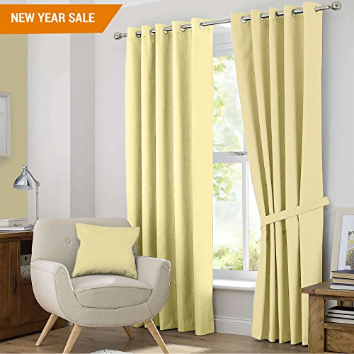 Story@Home Blackout Curtains - 46 x 84 Inches, Champagne (2 Panel (Champagne Living Room Set)