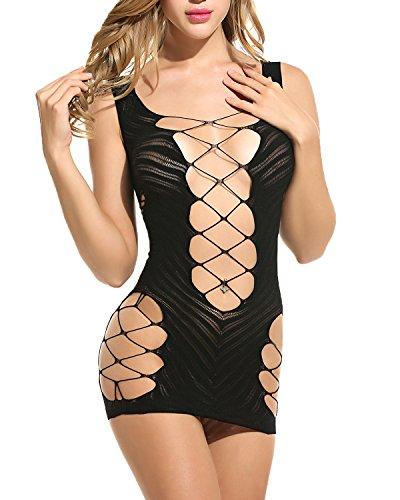 mesh babydoll dress - 8