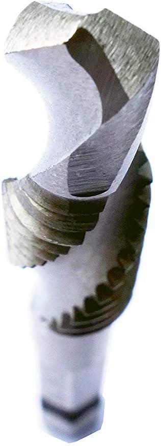 plateado Juego de 6 brocas fraccionadas con v/ástago hexagonal de 1//4 y flauta en espiral
