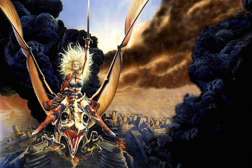 Heavy Metal animation 1981 Blonde Warrior on dragon with sword 24x36 Poster]()