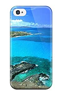 Brand New 4/4s Defender Case For Iphone (makapu Oahu Hawaii Blue Sky Clouds White Water Shore Nature Other)