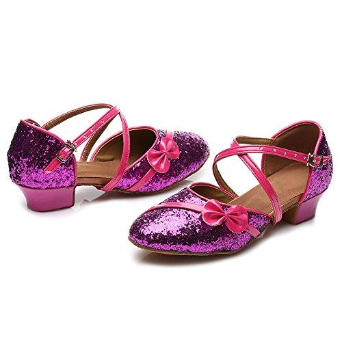 Hipposeus Viola Latino Ballroom Ballo sala Standard Paillettes Ballo Di it208 amp; modello Donna Bambine Da Scarpe Scarpe scarpe rFTwrq