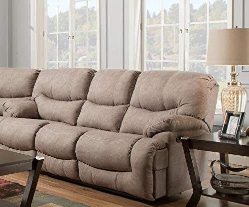 (Simmons Upholstery 50455BR-53 Palermo Shale Double Motion Sofa, Smoke)