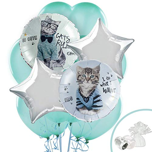 BirthdayExpress Rachael Hale Cats Rule Balloon Bouquet