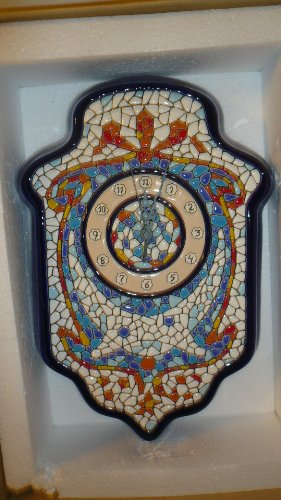 Spanish Cearco Ceramic Collectible Clock by Cearco
