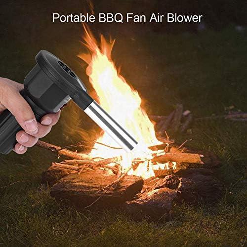Portable Barbecue Blower, Léger en Plein Air De Pique-Nique Cuisine Ventilateur, Acier Inoxydable Safe Bouche, pour Seting Up Feu Quicker