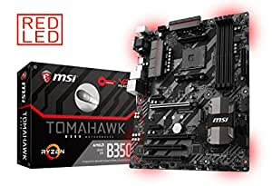 MSI Gaming AMD Ryzen B350 DDR4 VR Ready HDMI USB 3 CFX ATX Motherboard (B350 Tomahawk)