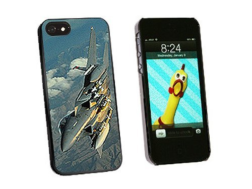 Graphics and More US Airforce F-15 Strike Eagle Snap-On Hard Protective Case for iPhone 5/5s - Non-Retail Packaging - Black