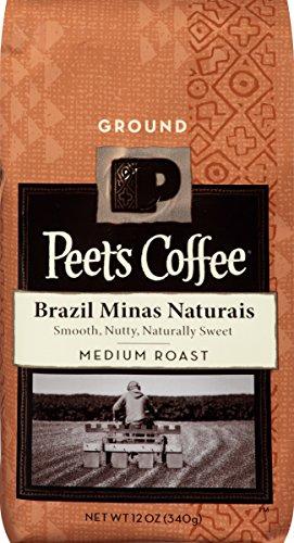 Peet's Coffee Brazil Minas Naturais, Medium Roast, Ground 12oz bag