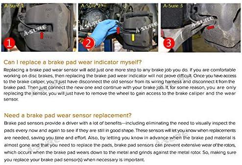 7 Series 730 740 750 760 Front /& Rear 6 Series 640i 650i M6 BKF10 ASURE Brake Pad Wear Sensor for 5 Series 520i 528i 530i 535i 550i ActiveHybrid M5