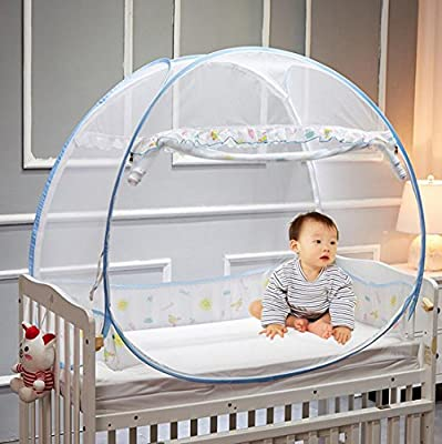 CoutureBridal Baby Crib Tent Safety Net Foldable Pop Up Canopy Cover for Bed Mosquito Net