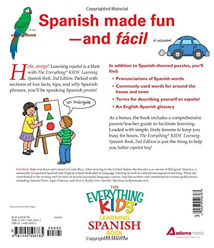 Workbook 4th grade spanish worksheets : The Everything Kids' Learning Spanish Book: Exercises and puzzles ...