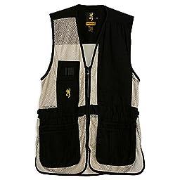 Browning Trapper Creek Left Hand Vest, Black/Tan, Medium