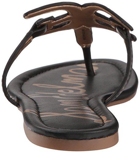 Sam noir plates Sandales cuir Edelman Carter pour femme Hx6Hqarzw