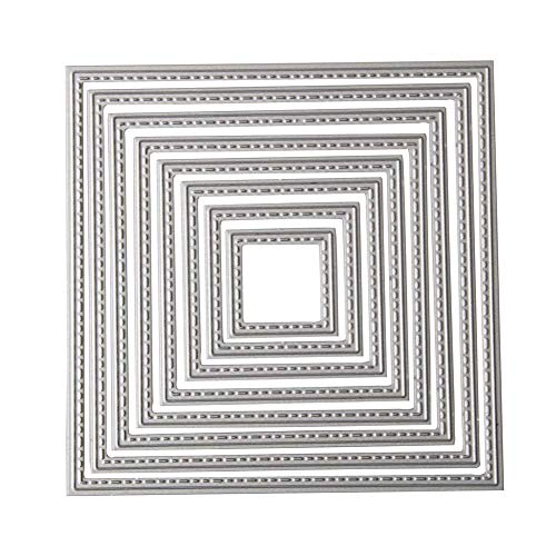 Metal Cutting Dies Shape Embossing Stencil for Scrapbooking, Card Making, Invitation Card, Birthday Card, DIY Craft (Square)