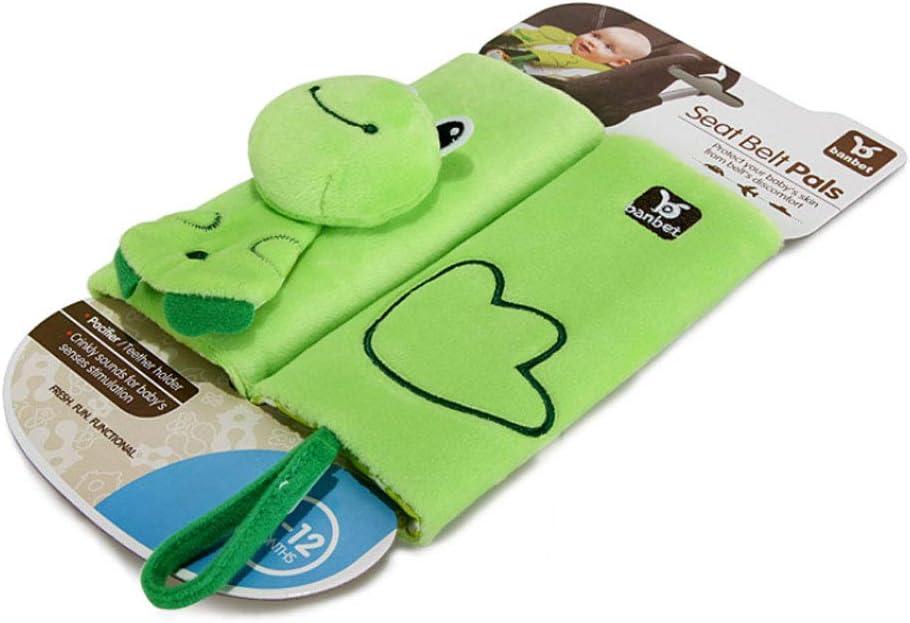 1 Set Baby Car Seat Strap Covers Frog Print Cartoon Stroller Belt Shoulder Harness Cushion Pads