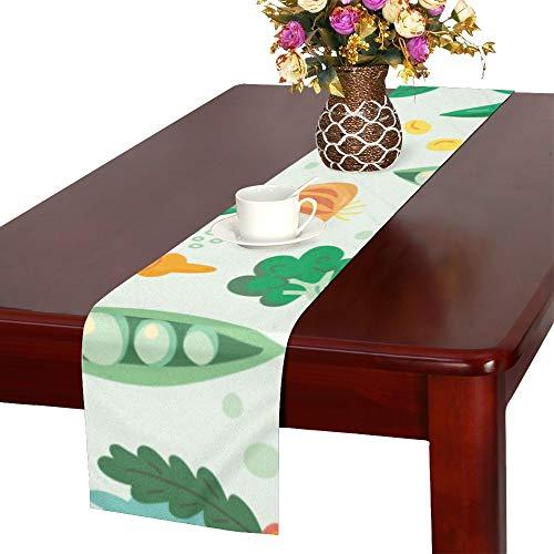 WJJSXKA Fruit and Vegetable Harvest Sweet Table Runner, Kitchen Dining Table Runner 16 X 72 Inch for Dinner Parties, Events, Decor