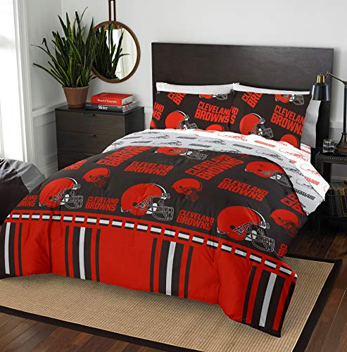 The Northwest Company NFL Cleveland Browns Queen Bed in a Bag Complete Bedding Set #352408389