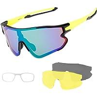 SUUKAA Ciclismo Gafas CE Certificación Polarizadas con 3 Lentes Intercambiables UV…